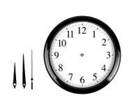 часы предпосылки изолированные над белизной стены Стоковая Фотография