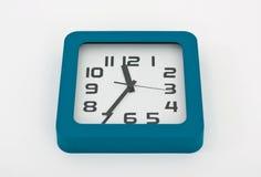 часы предпосылки изолированные над белизной стены Стоковое Изображение RF