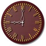 часы предпосылки изолированные над белизной стены Стоковая Фотография RF