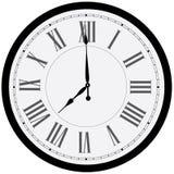 часы предпосылки изолированные над белизной стены иллюстрация штока
