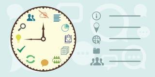 Часы проекта горизонтальные Стоковое Фото
