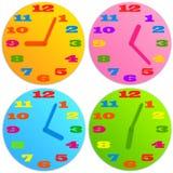 Часы ребенка иллюстрация вектора