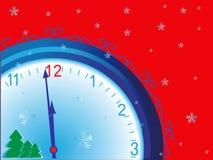 часы рождества Стоковые Фото