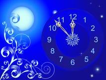 часы рождества иллюстрация штока