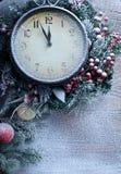 Часы рождества. Стоковая Фотография