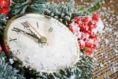 Часы рождества Стоковое Изображение