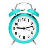 часы сигнала тревоги голубые ретро Иллюстрация штока