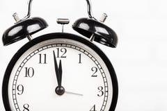 часы сигнала тревоги черные Стоковое Изображение RF