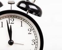 часы сигнала тревоги черные Стоковое Фото