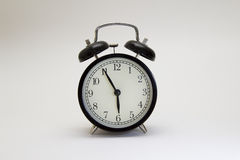 часы сигнала тревоги черные Стоковые Фото