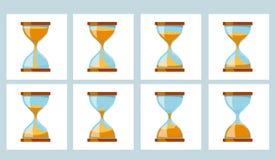Часы стекла песка анимации Стоковые Изображения RF