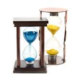 Часы, стекло песка, часы песка  Стоковые Фотографии RF
