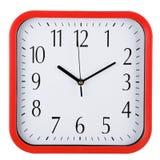 Часы стены на белизне за 10 Стоковое фото RF