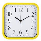 Часы стены на белизне за 10 Стоковая Фотография