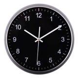 Часы стены на белизне за 10 Стоковое Изображение RF