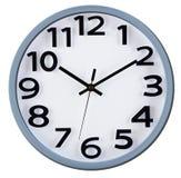 Часы стены на белизне за 10 Стоковые Фотографии RF