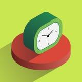 Часы стола вектора красочные равновеликие Стоковые Изображения