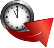 часы стрелки Стоковое Изображение