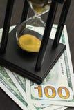 Часы с долларами Стоковые Изображения RF