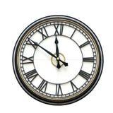 Часы с римскими цифрами изолированные на белизне Стоковые Изображения