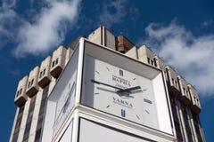 Часы улицы здание муниципалитета Варны, Болгарии Стоковая Фотография