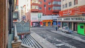 Часы утра зимы в Suifenhe стоковые изображения rf