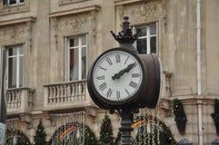 Часы улицы Парижа Стоковая Фотография