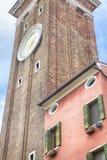 Часы церков Santi Apostoli Стоковые Изображения RF