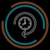 Часы 24 часа значка, времени вектора иллюстрация вектора