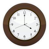часы деревянные Стоковые Фотографии RF