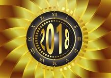Часы 2018 Стоковые Изображения