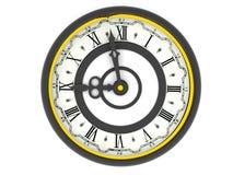 Часы. 9 часов Стоковое Фото