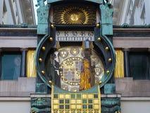 Часы Anker, Ankerhur в вене Стоковая Фотография RF