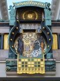 Часы Anker, Ankerhur в вене Стоковое Изображение RF