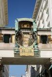 Часы Ankeruhr Anker, 1911 в Hoher Markt - известном astronomica Стоковое фото RF