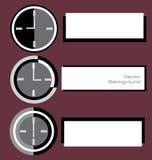 Часы Digitals с примечаниями ярлыка Стоковые Фотографии RF