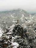 Часы na górze снежной горы Стоковая Фотография