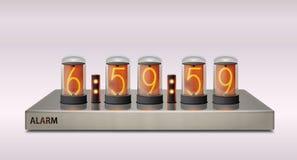 Часы Nixie современные Стоковые Изображения RF