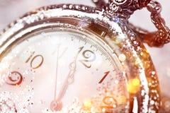Часы ` 12 o - канун ` s Нового Года Стоковая Фотография
