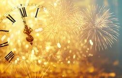 Часы ` 12 o - канун ` s Нового Года Стоковая Фотография RF