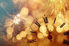 Часы ` 12 o - канун ` s Нового Года Стоковое Изображение