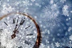 Часы ` 12 o - канун ` s Нового Года Стоковое фото RF