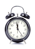 Часы ` 12 o на будильнике на белизне Стоковые Изображения RF