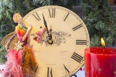 Часы ` 12 o на ` s Eve Нового Года Стоковое Изображение