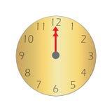 часы o 12 Иллюстрация штока