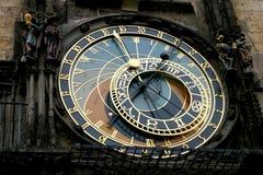 часы prague Стоковая Фотография
