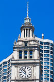 часы wrigley chicago здания Стоковое фото RF