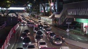 Час пик в Куалае-Лумпур сток-видео