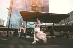 Час пик в Токио стоковые фото
