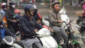 Час пик в Ханое сток-видео